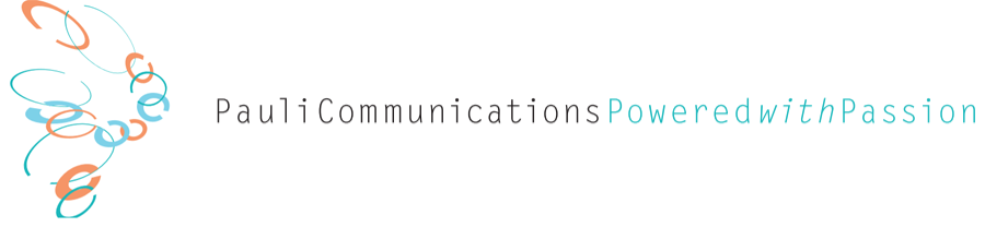 Logo Pauli Communications: Powered with Passion