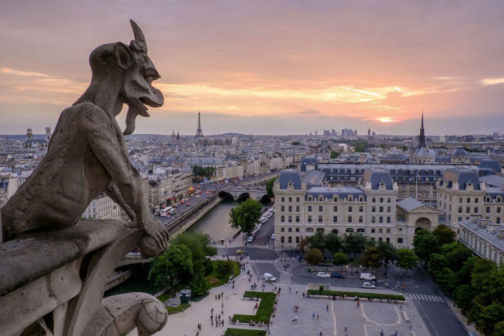 Uitzicht vanuit Notre-Dame de Paris